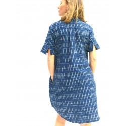 POLO DRESS BLUE