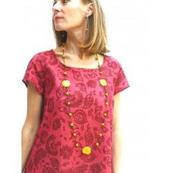 RAGILAN DRESS CORAL