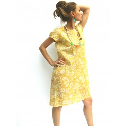 RAGILAN DRESS GOLD YELLOW