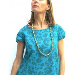 RAGILAN DRESS BLUE