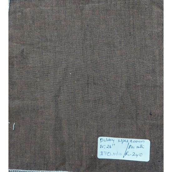 Organic Cotton Fabrics- Dobby weave Light Brown