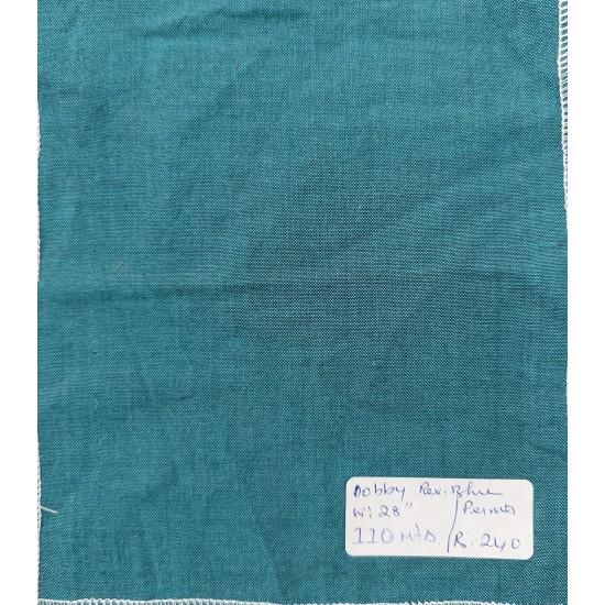 Organic Cotton Fabrics- Dobby weave Reverse Blue