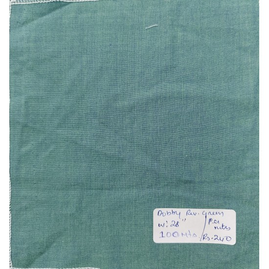 Organic Cotton Fabrics- Dobby weave Reverse Green