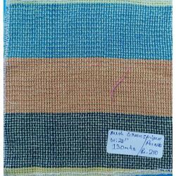 Organic Cotton Fabrics- Mesh Green Striped