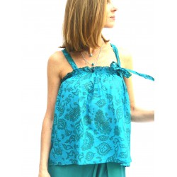 TOP WITH RIBBON BLUE
