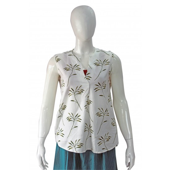 Spring top (Forest print)